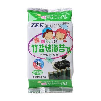ZEK竹盐烤海苔5g*3——韩国进口 不含色素,不含防腐剂,不含反式脂肪酸