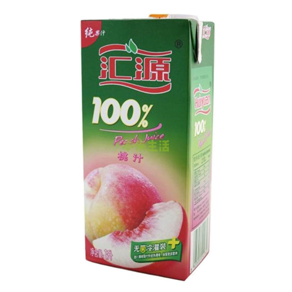 汇源100%桃汁1l